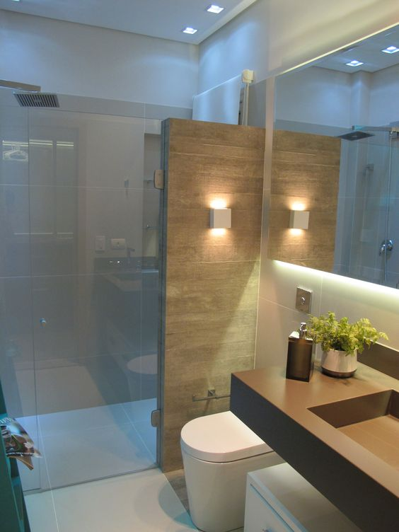 Mais de 100 Banheiros Planejados  As Melhores Dicas Para Você -> Banheiros Sociais Modernos
