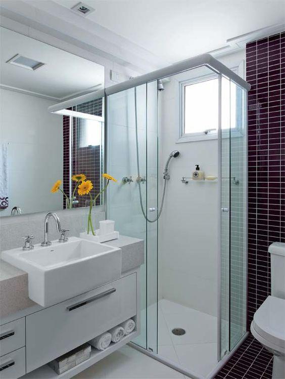 Mais de 100 Banheiros Planejados  As Melhores Dicas Para Você -> Banheiro Pequeno Quarto