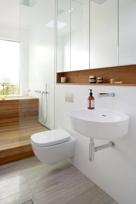 Mais de 100 Banheiros Planejados  As Melhores Dicas Para Você -> Banheiros Decorados Atuais