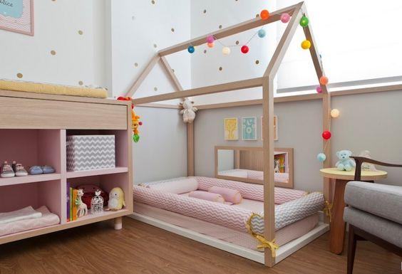 cama decorada de menina
