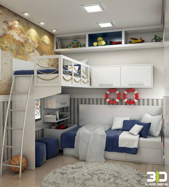 cama suspensa decoração marinehiro
