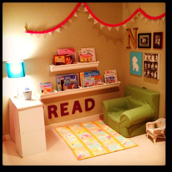 cantinho da leitura para menina
