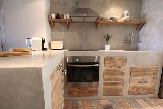 Veja 65 modelos de ed culas com dicas e se inspire for Cocinas integrales de concreto pequenas