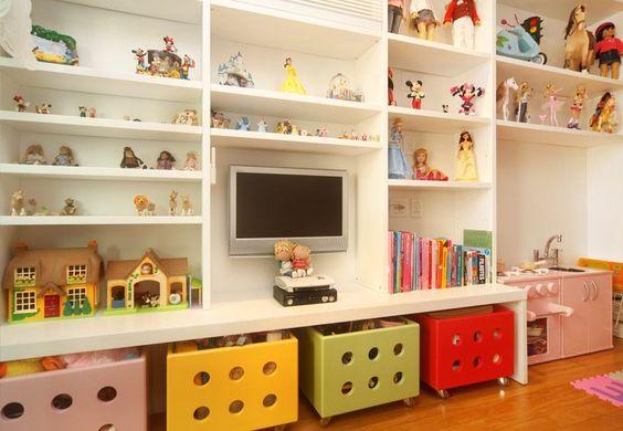 dicas para organizar os brinquedos