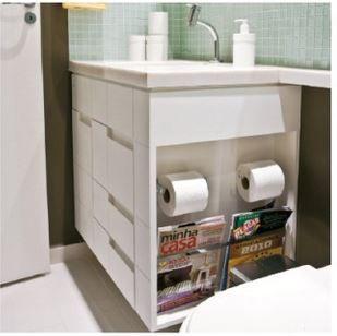 espaço planejado no banheiro
