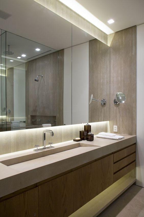 Mais de 100 Banheiros Planejados  As Melhores Dicas Para Você -> Banheiro Planejado Pia