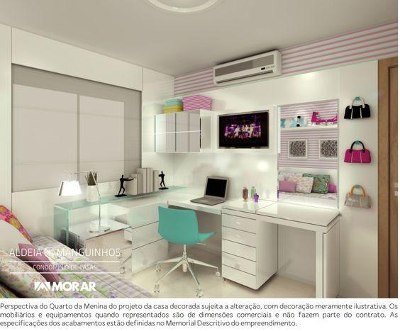 quartos de menina veja mais de 100 fotos com dicas. Black Bedroom Furniture Sets. Home Design Ideas