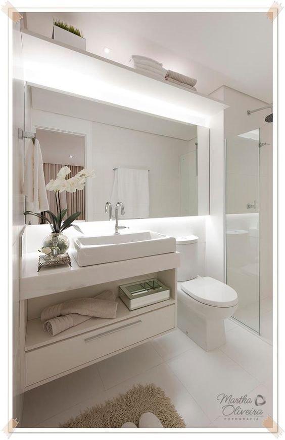 Mais de 100 banheiros planejados as melhores dicas para voc for Mueble encima wc