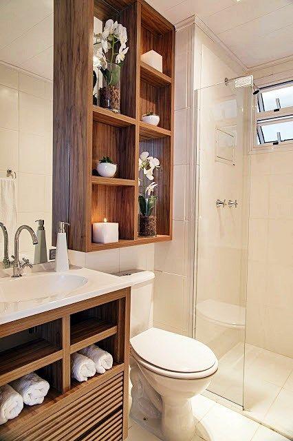 Mais de 100 Banheiros Planejados  As Melhores Dicas Para Você -> Nicho Embaixo Da Janela Banheiro