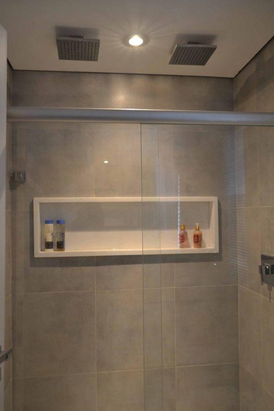Mais de 100 Banheiros Planejados  As Melhores Dicas Para Você -> Nicho Para Box Banheiro Pequeno