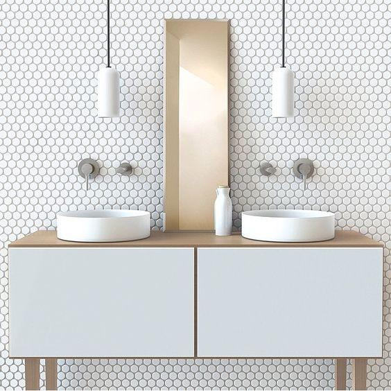 Mais de 100 Banheiros Planejados  As Melhores Dicas Para Você -> Pia Banheiro Dupla