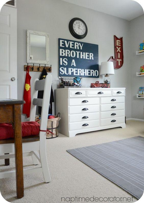 placa quarto de menino