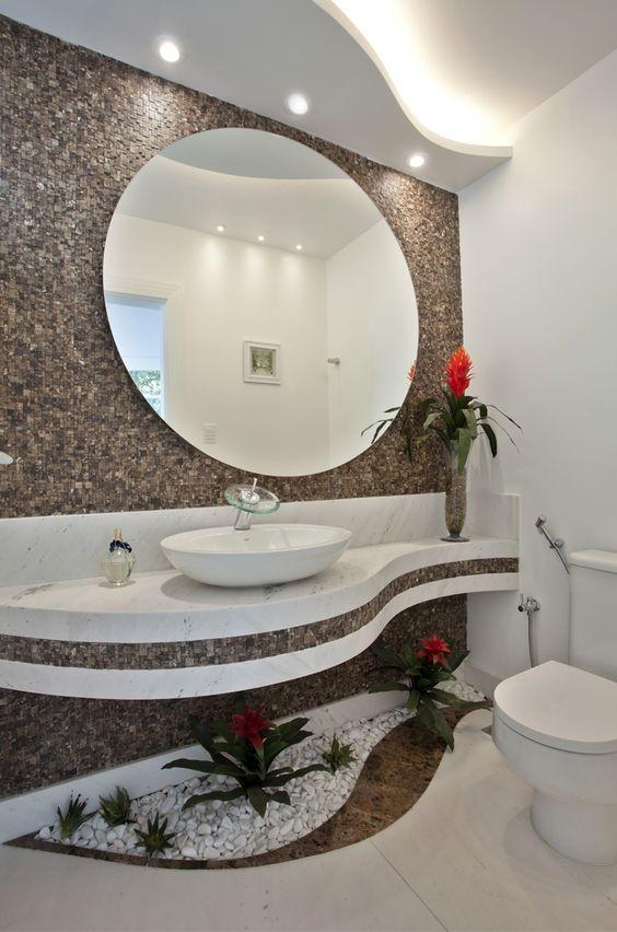Mais de 100 Banheiros Planejados  As Melhores Dicas Para Você -> Pia De Banheiro Aquario