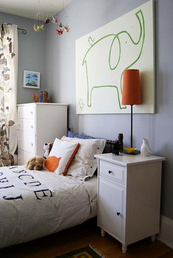 quadro moderno no quarto