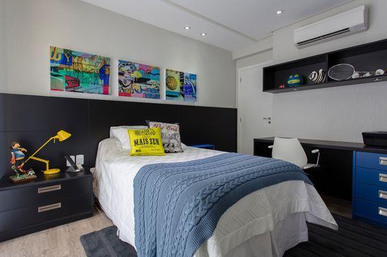 Quarto de menino decora o da inf ncia a adolesc ncia fotos for Quadros dormitorio