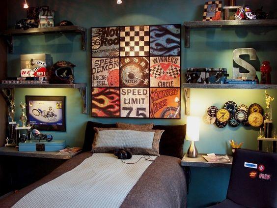 quarto com decoração moderna