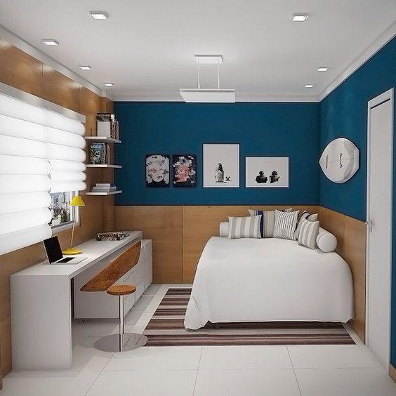 quarto com decoração simplista