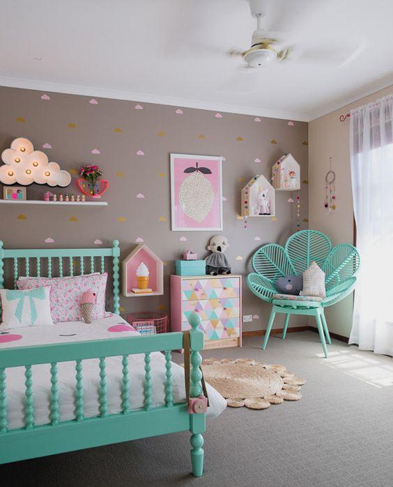 quarto de menina com cores azuis