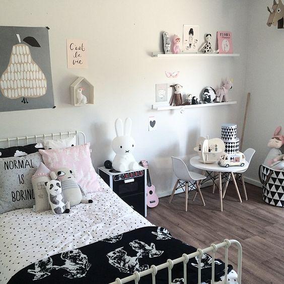 quarto de menina preto