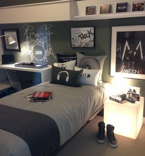 quarto de menino cinza