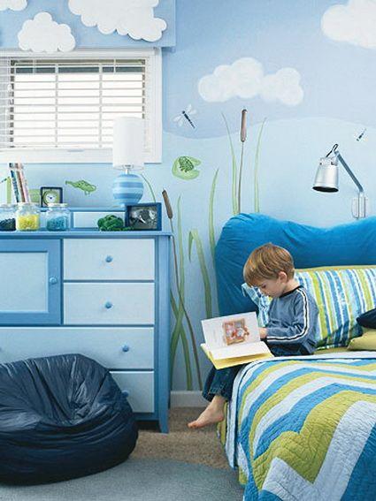 quarto infantil azul
