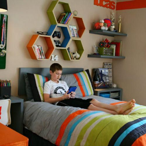quarto para menino com nichos