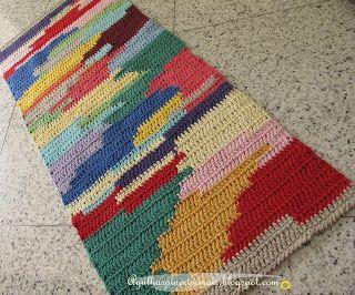 tapete colorido retangular