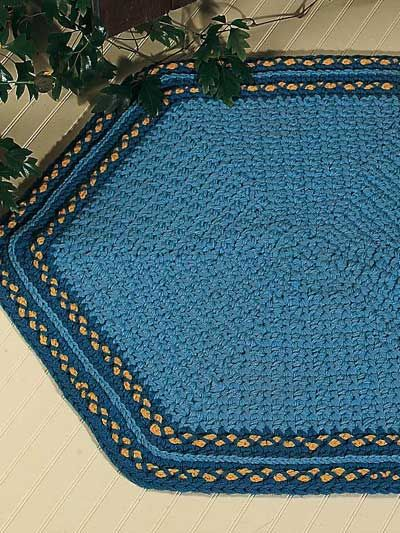 tapete hexagonal azul