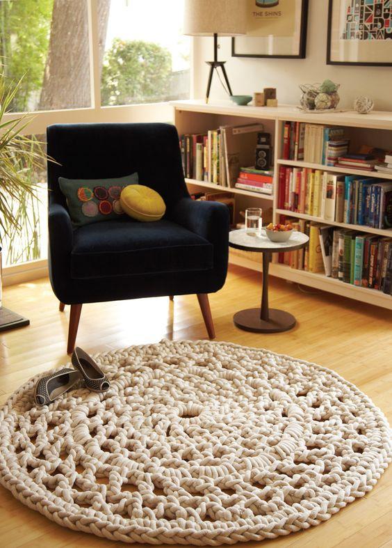 tapete para cadeira de leitura