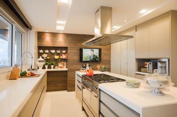 TV na cozinha