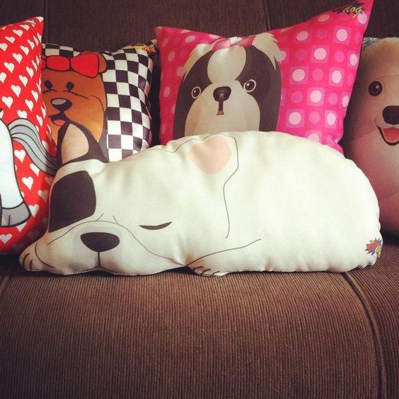 almofadas criativas cachorro dormindo