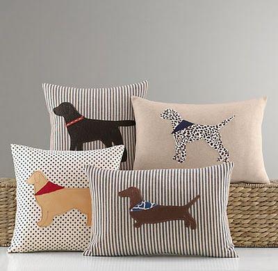 almofadas criativas de cachorro