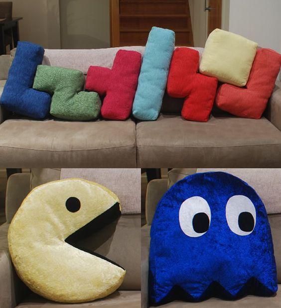 almofadas criativas pacman