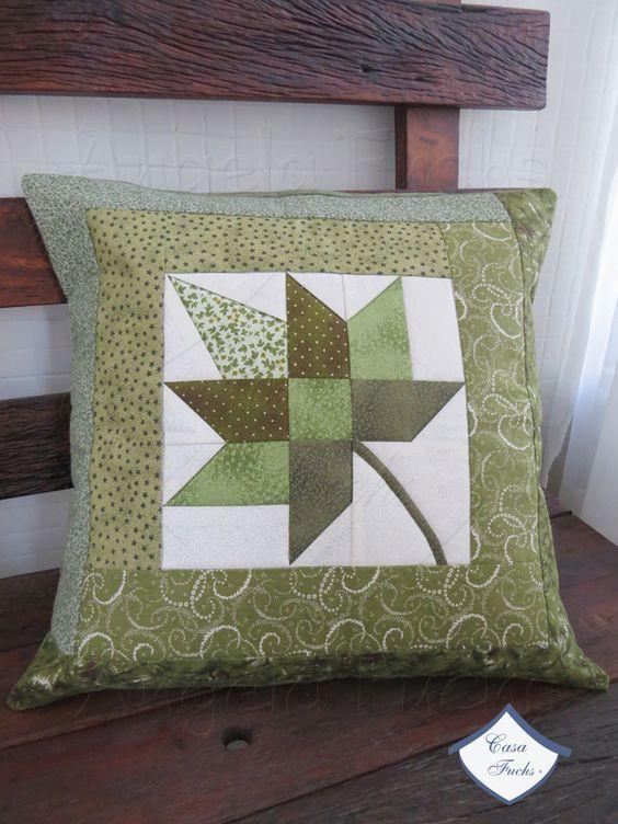 almofadas decorativas folha
