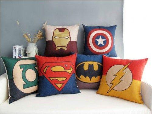 almofadas decorativas super heróis