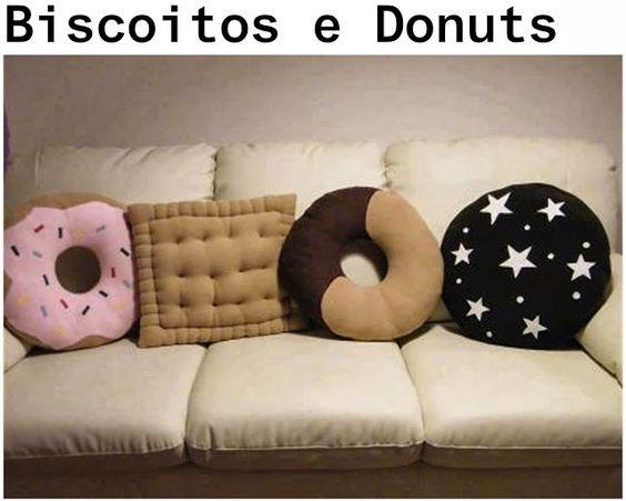 almofadas diferentes donut