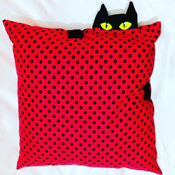 almofadas divertidas gato