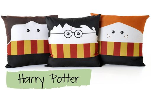 almofadas divertidas harry potter