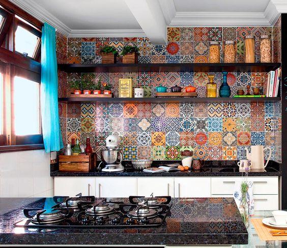 azulejos na cozinha americana