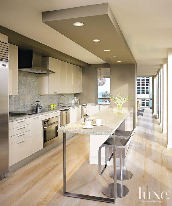 bancada de cozinha american central