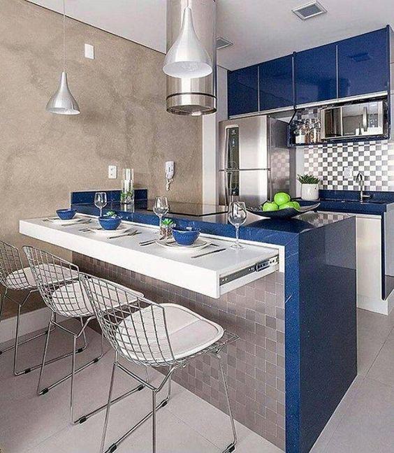 Cozinha americana veja 100 projetos modelos e dicas - Bancadas de cocina ...