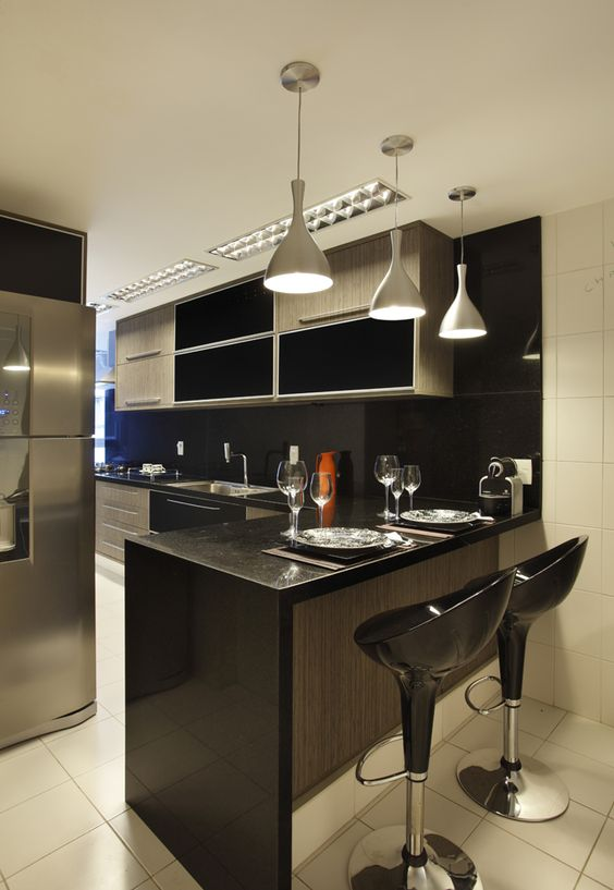 bancada de cozinha para lanches