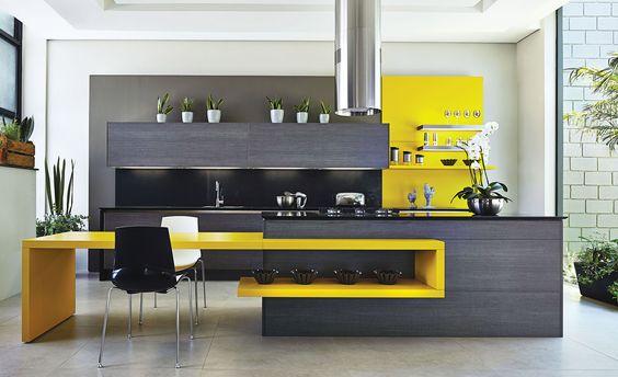 combinação de cinza e amarelo