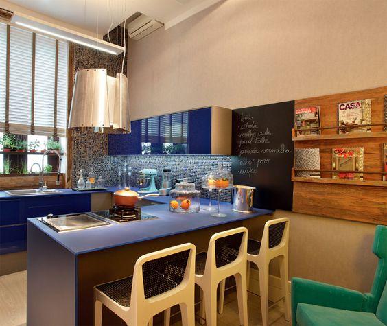 coziha com decoração azul