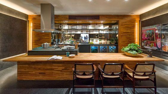 cozinha americana central