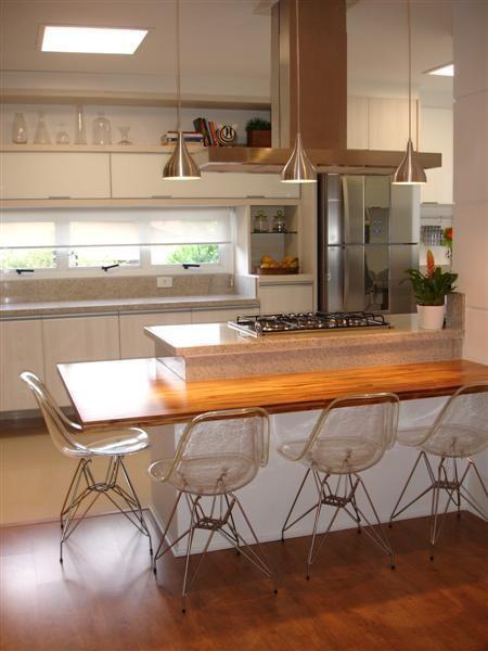 cozinha com bancada para cozinha americana