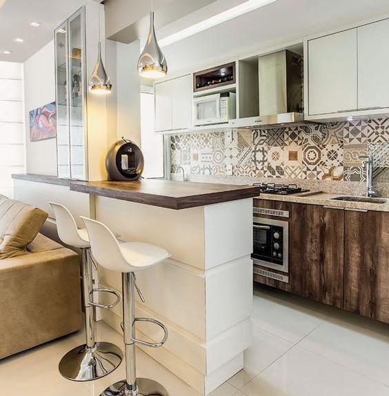 cozinha com detalhes decorativos