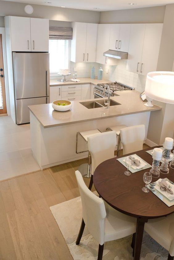 cozinha com estilo branco