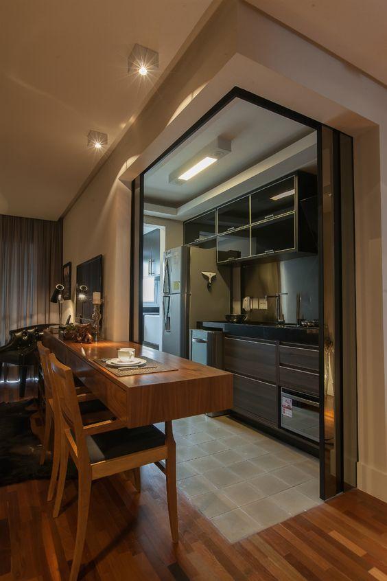 Cozinha americana veja 100 projetos modelos e dicas for Cocinas pisos pequenos
