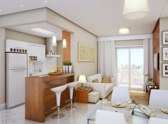 cozinha interligada coma sala
